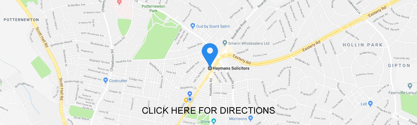Haymans Solicitors Map